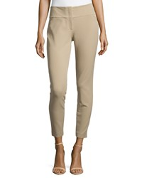 Michael Kors Stretch Twill Skinny Pants Sand Brown