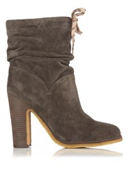 See By Chloe Jona Suede Ankle Boots Dark Grey