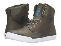 Palladium Pallarue Hi Cuff Wp Army Green White Men's Lace Up Casual Shoes