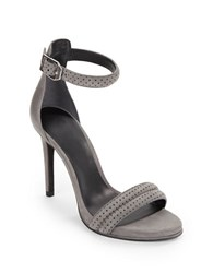 Kenneth Cole Brooke Leather And Suede Open Toe Sandals Earl Grey