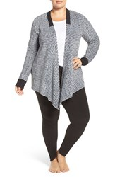 Dkny Plus Size Women's Fleece Cardigan And Leggings