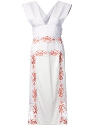 Theatre Products Lace Panel Sleeveless Dress White