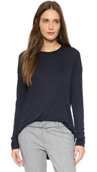 Vince Relaxed Drop Shoulder Crew Tee Coastal