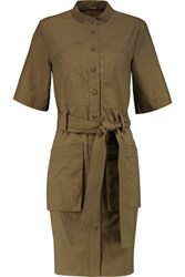 Adam By Adam Lippes Cotton Poplin Shirt Dress Army Green