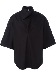 Damir Doma High Neck Wide Fit T Shirt Black