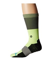 Stance Scratch Lime Men's Crew Cut Socks Shoes Green