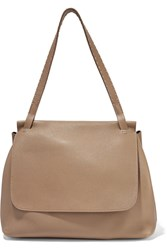 The Row Sidekick Textured Leather Shoulder Bag Sand