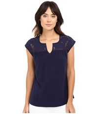 Lilly Pulitzer Avery Top True Navy Women's Clothing