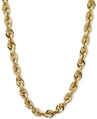 Macy's Long Glitter Rope Necklace In 14K Gold Yellow Gold