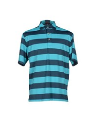 Peter Millar Topwear Polo Shirts Men Turquoise