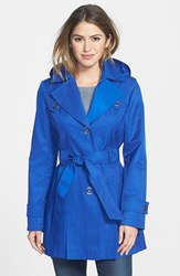Women's Via Spiga 'Scarpa' Single Breasted Hooded Trench