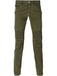 Philipp Plein 'No Reason' Skinny Jeans Green