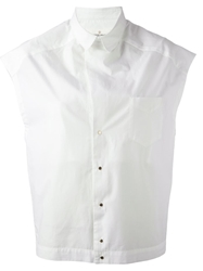 Golden Goose Deluxe Brand Cap Sleeve Shirt White