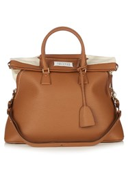 Maison Martin Margiela 5Ac Grained Leather Tote Bag Camel