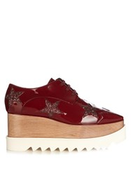 Stella Mccartney Elyse Lace Up Platform Shoes Burgundy