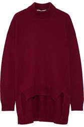 Rosetta Getty Wool And Cashmere Blend Sweater Burgundy