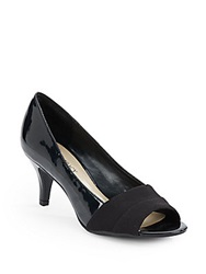 Ellen Tracy Inna Peep Toe Pumps Black Patent