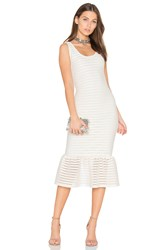 Twenty Mesh Crochet Bodycon Dress Ivory
