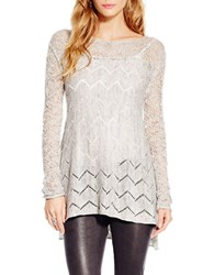 Jessica Simpson Open Knit Sweater Grey