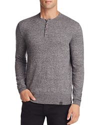 Superdry Orange Label Cotton Cashmere Grandad Henley Sweater Steel Twist