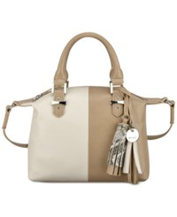 Nine West Face Forward Satchel Crossbody Sandstone Milk Natural