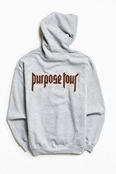 Urban Outfitters Justin Bieber Purpose Tour Hoodie Sweatshirt Grey