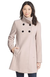 Larry Levine A Line Babydoll Coat Regular And Petite Stone