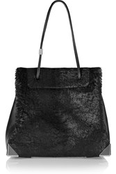 Alexander Wang Prisma Coated Calf Hair And Leather Tote Black
