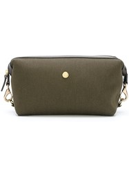 Mismo Hook Detail Wash Bag Green