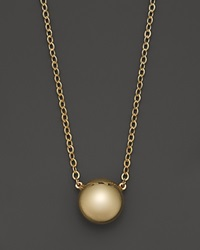 Bloomingdale's 14K Yellow Gold Flat Ball Pendant Necklace 18