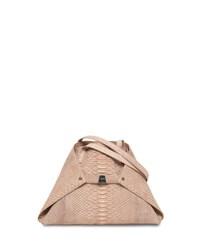 Akris Ai Python Small Shoulder Bag Neutral