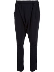Baja East Drop Crotch Trousers Black
