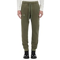 R 13 R13 Men's Raw Cut Drop Rise Sweatpants Green Dark Green Green Dark Green