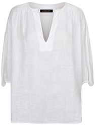 Jaeger Linen Tunic Top White