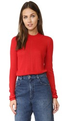Rachel Comey Panther Mockneck Sweater Red