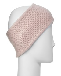 Portolano Cashmere Honeycomb Headband Powder Pink