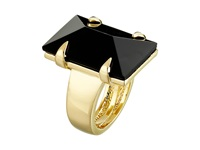 Vince Camuto Rectangular Glass Stone Ring Gold Black Ring