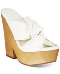 Mojo Moxy Mally Wooden Platform Sandals Women's Shoes White