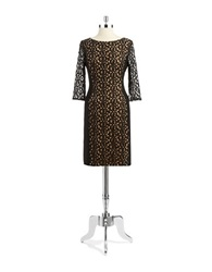 Anne Klein Lace Accented Sheath Dress Black