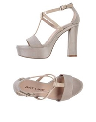 Janet And Janet Sandals Light Grey