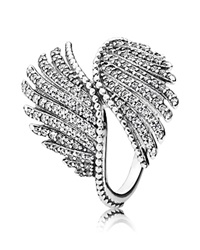 Pandora Design Pandora Ring Sterling Silver And Cubic Zirconia Majestic Feathers