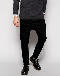 Asos Drop Crotch Jeans Black