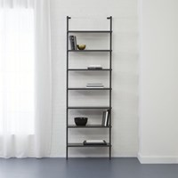 Cb2 Stairway Grey 96 Wall Mounted Bookcase