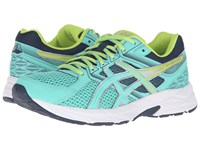Asics Gel Contend 3 Cockatoo Neon Lime Dark Navy Women's Running Shoes Blue