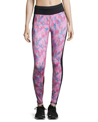 C And C Sport Graphic Print Sport Leggings Neon Lipstick