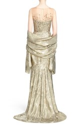 Women's St. John Collection Grooved Metallic Lame Wrap