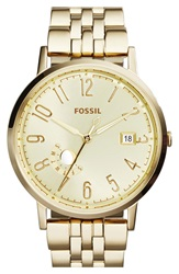 Fossil 'Vintage Muse' Multifunction Bracelet Watch 40Mm Gold