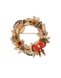 Miriam Haskell 2Mm 4Mm 6Mm Simulated Pearl Goldplated Wreath Pin