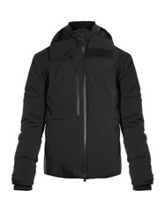Y 3 Panelled Down Jacket Black