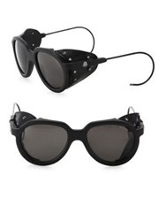 Moncler 55Mm Oval Sunglasses Black